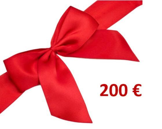 CHEQUE CADEAU 200.00 €